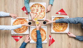 Partie de pizza Photos stock