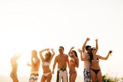 Partie de plage pendant l'été Images stock