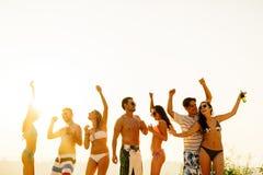 Partie de plage pendant l'été Photo stock