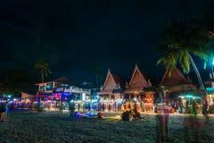 Partie de pleine lune chez Koh Phangan Images stock