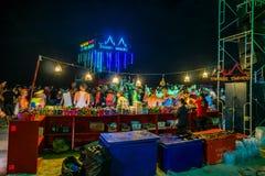 Partie de pleine lune chez Koh Phangan Photos stock