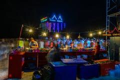 Partie de pleine lune chez Koh Phangan Photographie stock libre de droits