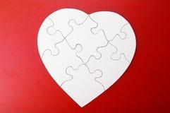 Partie de puzzle de coeur Photographie stock libre de droits