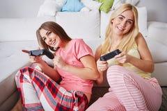 Partie de pyjama du ` s d'ami Photos libres de droits
