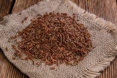 Partie de riz rouge Photos stock