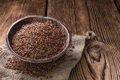Partie de riz rouge Image stock