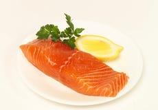 Partie de saumons Images libres de droits