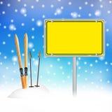 Partie de ski d'Apres en hiver Photographie stock libre de droits
