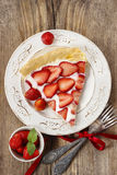Partie de tarte de fraise Photos libres de droits