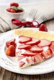 Partie de tarte de fraise Image stock