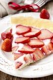 Partie de tarte de fraise Photo libre de droits