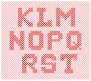 Partie de tricotage d'alphabet Photo libre de droits