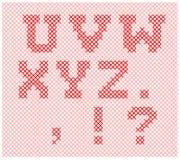 Partie de tricotage d'alphabet Images libres de droits
