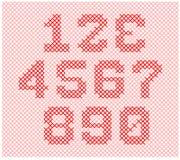 Partie de tricotage d'alphabet Image stock