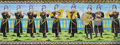 Partie de vieux mur de mosaïque Image libre de droits