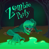 Partie de zombi illustration stock