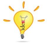 Partie deux d'illustration de vecteur d'ampoule d'idée Photo libre de droits