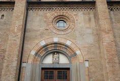 Partie du mur de la cathédrale de la crème dans la province de Crémone en Lombardie (Italie) Image libre de droits