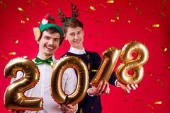 Partie 2018 du ` s d'ami de nouvelle année Photographie stock