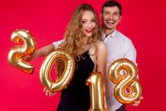 Partie 2018 du ` s d'ami de nouvelle année Photographie stock libre de droits
