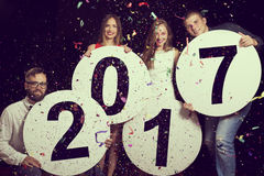 Partie du ` s de nouvelle année Images libres de droits
