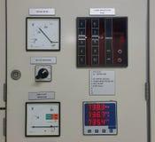 Partie et accessoires électriques dans le coffret de contrôle, le contrôle et le distributeur de puissance photographie stock libre de droits