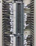Partie et accessoires électriques dans le coffret de contrôle, le contrôle et le distributeur de puissance image libre de droits