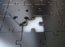 Partie finale de puzzle denteux Images libres de droits