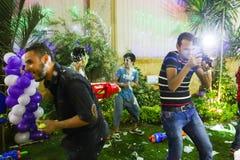 Partie folle d'arme à feu d'eau photographie stock libre de droits