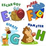 Partie française d'alphabet Photo libre de droits