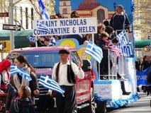 Partie grecque 81 du défilé 2016 de Jour de la Déclaration d'Indépendance de NYC photographie stock libre de droits