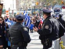 Partie grecque 7 4 du défilé 2016 de Jour de la Déclaration d'Indépendance de NYC images libres de droits