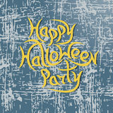 Partie heureuse de Halloween de message sur le fond grunge Illust de vecteur Photos stock