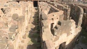 Partie intérieure de Colosseum banque de vidéos