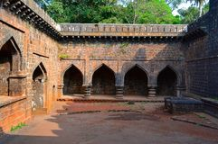 Partie intérieure de fort de l'adolescence de Darwaja Panhala, Kolhapur, maharashtra Photographie stock libre de droits