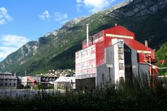 Partie métallique dans Odda, Norvège Photographie stock