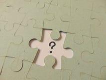 Partie manquante d'un puzzle Photos libres de droits