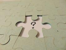 Partie manquante d'un puzzle Photographie stock libre de droits