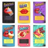 Partie Mini Posters de lèvres Image libre de droits