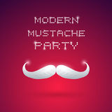 Partie moderne de moustache Photos stock