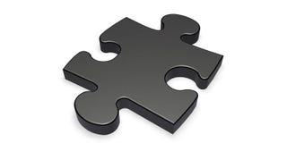 Partie noire de puzzle Image stock