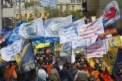 Partie polityczne i oerganizations na wiecu Zdjęcie Royalty Free