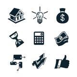 Partie réglée d'icône d'affaires Image stock