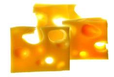 Partie savoureuse de fromage photographie stock libre de droits