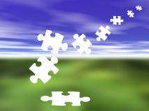 Partie-solution de puzzle Image stock