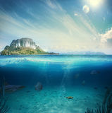 Partie sous-marine images stock