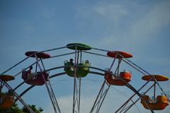 Partie supérieure de Ferris Wheel, Portland, Orégon Images stock