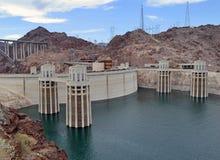 Partie supérieure de barrage de Hoover, Arizona Photos libres de droits