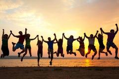 Partie sur le coucher du soleil image libre de droits
