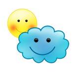 Partiellement nuageux Photo libre de droits